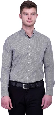 Protext Men,s Printed Formal, Casual, Party Grey Shirt