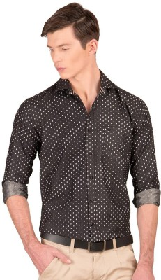 Taurus Men's Printed Casual Black Shirt