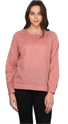 Nordic Bazaar Women's Solid Casual Pink Shirt