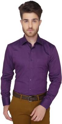 Greenfibre Men's Solid Formal Purple Shirt