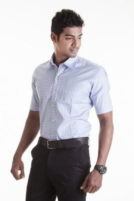 Sting Men,s Checkered Formal Blue Shirt