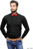 Beetle Men's Solid Casual Black Shirt