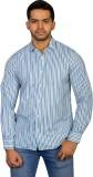 Ruti Men's Striped Formal Light Blue Shi...