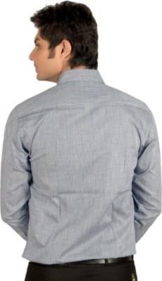 Badstreet Boys Men's Solid Formal Grey Shirt