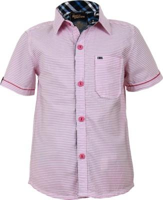 Einstein Boy's Printed Casual Pink Shirt