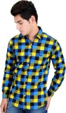 Four Lines Men's Checkered Casual Multic...