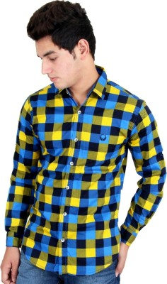Four Lines Men's Checkered Casual Multicolor Shirt
