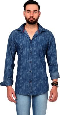 Urban Republic Men's Printed Casual Blue Shirt