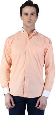 Magnoguy Men's Self Design Casual Pink, White Shirt