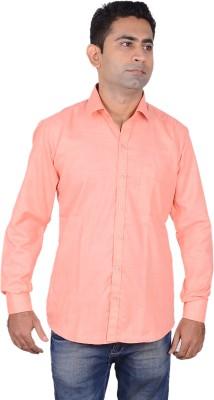 Aces Blue Men's Solid Formal Pink Shirt