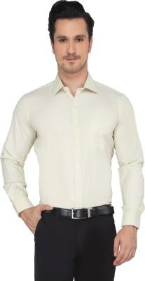 Devaa Men's Solid Formal Yellow Shirt