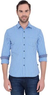 IDENTITI Men's Checkered Casual Blue Shirt