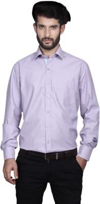Yorkshire Men's Solid Formal Purple Shirt