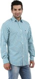 Haberfield Men's Checkered Casual Green ...