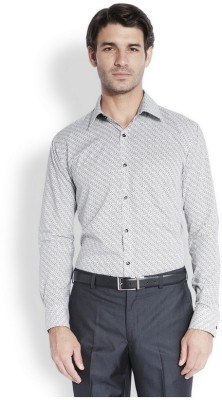 Park Avenue Men,s Printed Formal Black Shirt