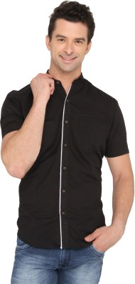 Donear NXG Men's Solid Casual Black Shirt