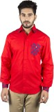 Sickey Men's Solid Casual Red Shirt