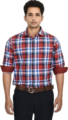 Hackensack Men's Checkered Casual Red, Blue Shirt