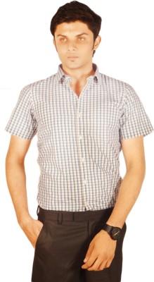 Kriss Men's Checkered Casual Blue Shirt