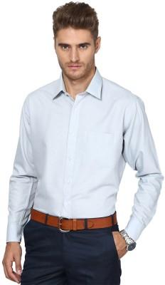 Shaftesbury London Men's Solid Casual Grey Shirt