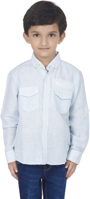 SuperYoung Boy's Striped Casual Light Blue Shirt