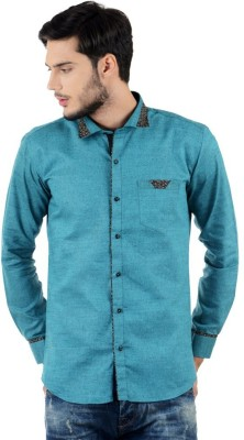 Triple Eight Men's Solid Casual Green Shirt