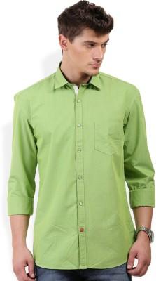 PAN VALLEY Men's Solid Casual Green Shirt