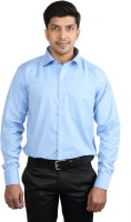 Basil Formal Shirts (Men's) - Basil Men's Solid Formal Blue Shirt