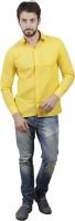 Akaas Formal Shirts (Men's) - Akaas Men's Solid Formal Yellow Shirt