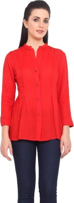 Urban Helsinki Women's Solid Casual Red Shirt