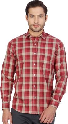Monte Carlo Men's Checkered Casual Brown, Maroon Shirt