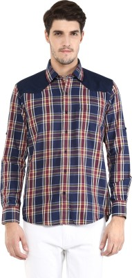 FUNK Men's Checkered Casual Multicolor Shirt