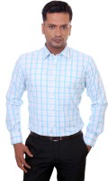 Countryside Formal Shirts (Men's) - Countryside Men's Checkered Formal Blue, Light Blue Shirt