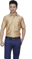 Jpeters Formal Shirts (Men's) - Jpeters Men's Solid Formal Gold Shirt