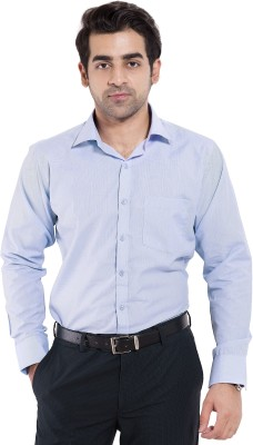 Mild Kleren Men's Checkered Formal Light Blue Shirt