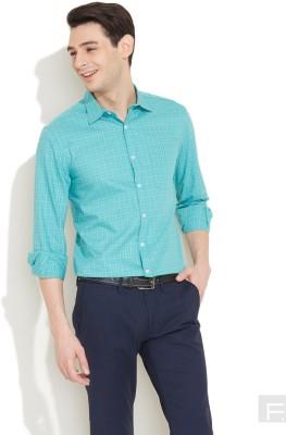 Coast Men's Checkered Formal Blue Shirt