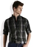 Roadster Men's Checkered Casual Black, G...