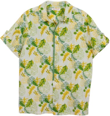 My Little Lambs Baby Boy's Printed Casual Green Shirt