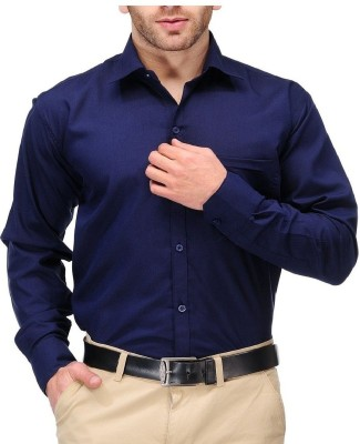 Royal touch Men's Solid Formal Dark Blue Shirt