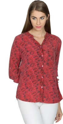 Miss Chick Women's Printed Casual Multicolor Shirt