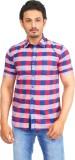 Success Men's Checkered Casual Linen Red...