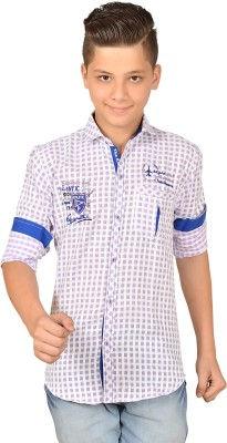 Anry Boy,s Checkered Casual Purple Shirt