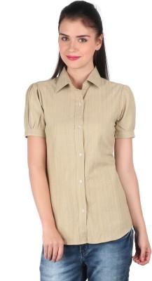 Mahikrite Women's Solid Casual Light Green Shirt