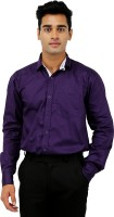 Formal Shirts (Men's) - Rose Wear Men's Solid Formal Purple Shirt