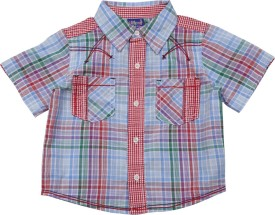 Lilliput Baby Boys Checkered Casual Red Shirt