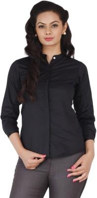 Change 360 Women's Solid Formal Black Shirt