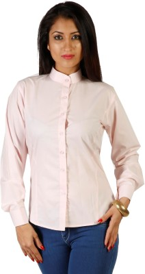 James Scot Women's Solid Formal Pink Shirt