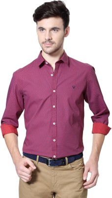 Allen Solly Men's Printed Casual Red Shirt