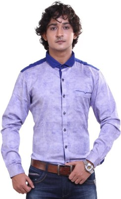 Royal Front Men's Printed Formal, Casual, Party, Festive, Wedding Blue Shirt