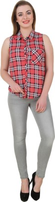Petipack Women's Checkered Casual Multicolor Shirt
